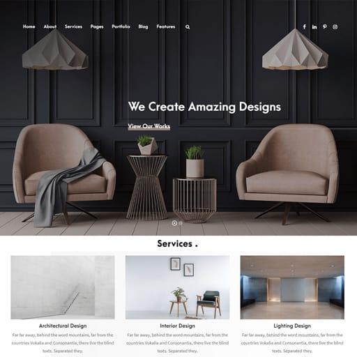 web design interior design